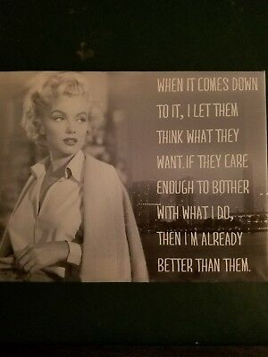 "Marilyn Monroe /""The Right Answer/"" Quote Poster Print 7/""x21/"" On Matte Canvas"