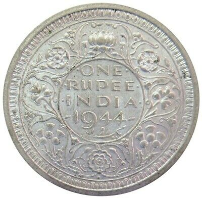 1944 Silver India Rupee George Vi King Emperor British Coin Bombay Mint
