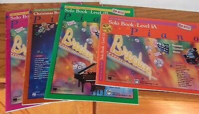 4 Alfreds Basic Piano Library Music Books Solo Christmas Level 1A 1B 2 4 Top Hit
