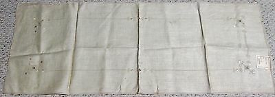Antique Italian Linen Runner MADE IN ITALY Punto Reale Punto Quadro Embroidery