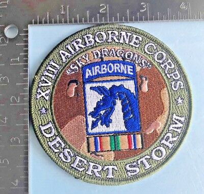 """Us Army Xviii Airborne Corps """"sky Dragons"""" Desert Storm Patch"""