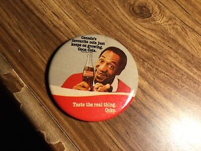"Coca Cola- Bill Cosby - 3"" button Pin - Used Some Wear See Pics"