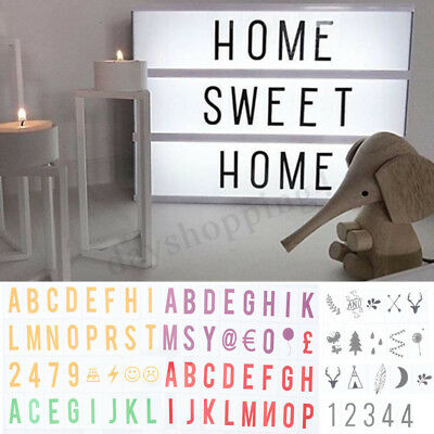 A4 Cinematic Light Up Sign Box Cinema LED Letter Lamp Home Party Wedding Decor