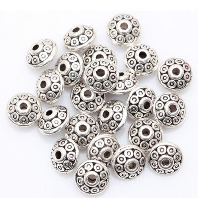 BL_ Wholesale 100 Antique Tibetan Loose Spacer Beads for DIY Jewelry Bracelet Ma