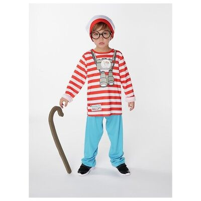 Children's Where's Wally Fancy Dress Costume - Choice of Size.
