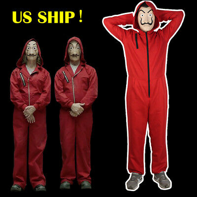 La casa De Papel Salvador Dali Money Heist Hoodie  Cosplay Costume Suit Jumpsuit