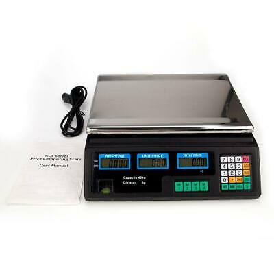 88LB 40KG Digital Price Computing Scale Food Produce Meat Deli Kitchen