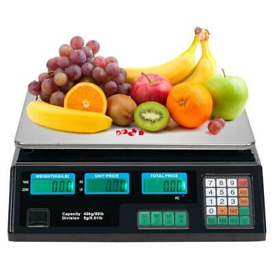 88lb 40kg Digital Scale Computing Price Electronic Counting Weight HD Backlit