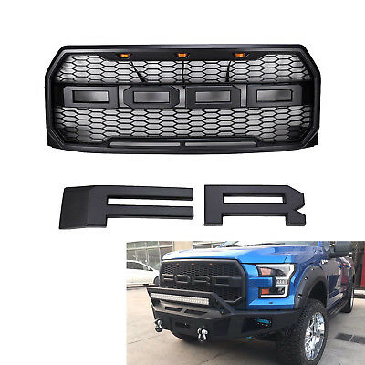 New 2015-2017 Raptor Style Mesh Black Front Grill Grille For Ford F-150