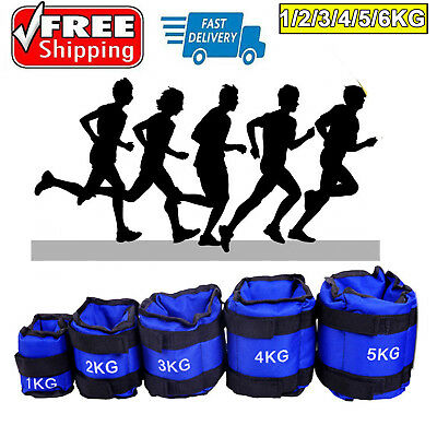 1kg-6kg Adjustable Ankle Wrist Weights Strap GYM Equipment Yoga Fitness Training