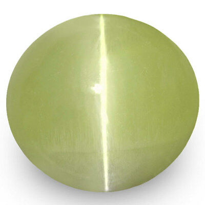 1.99-Carat Yellow Green Chrysoberyl Cat's Eye from Ceylon (IGI-Certified)