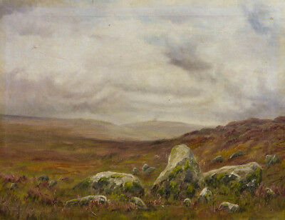 Early 20th Century Oil - Moorland Landscape
