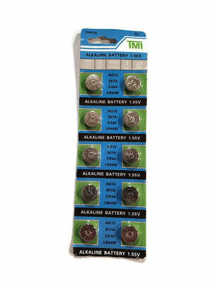 10x AG13 397A CX44 LR44W Button Alkaline Cell Coin Battery 1.55V