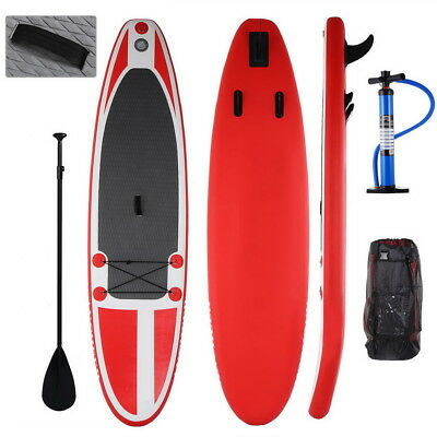 12'' ISUP Inflatable SUP Stand Up Paddle Board Adjustable Paddle Travel Backpack