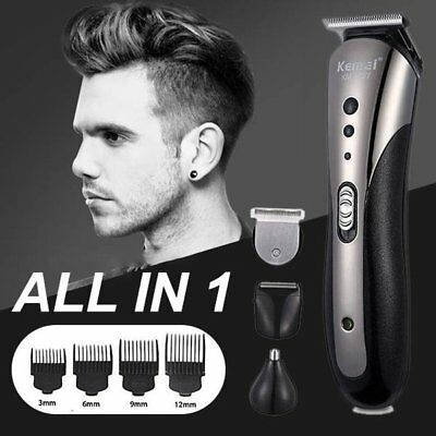 AU Men's Rechargable Electric Cordless Hair Beard Clippers Trimmer Shaver Razor