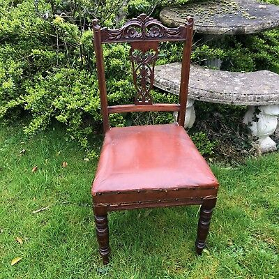 Upholstery Project! Lovely Antique Vintage Single Chair With Beautiful Carvings