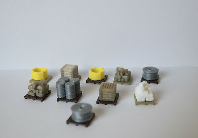 OO Scale 10x Pallets of Stock/Goods OO Guage pallets
