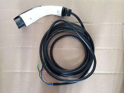 Type 1 Ev Tethered Charging Plug And Cable - 20A - Straight