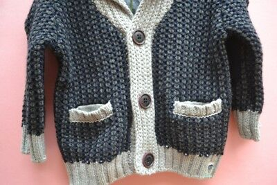 Ted Baker designer Sz 0 baby boy College Cardigan BNWT winter jumper sweater
