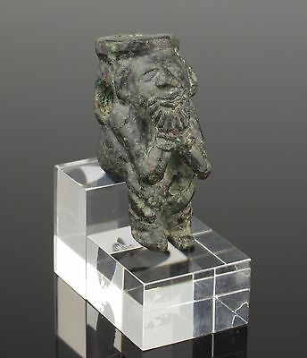Extremely Rare Ancient Roman Bronze Figurine Of A Bound Captive - Circa 1St C Ad