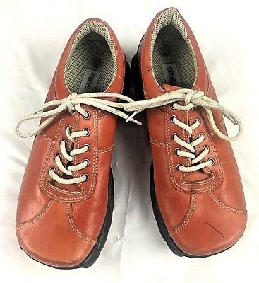e6ceac608d6 Steve Madden GABY Shoes Ladies 6 Lace Up Burnt Orange Leather Upper Rubber  Outso