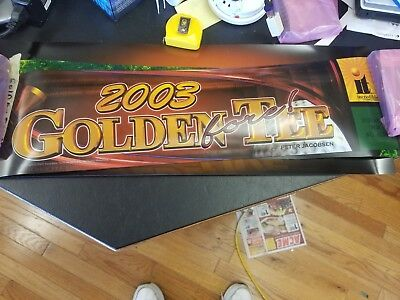 """GOLDEN TEE 2003 FORE GOLF  ORIGINAL 26-6 7/8"""" arcade game sign marquee  cF42"""