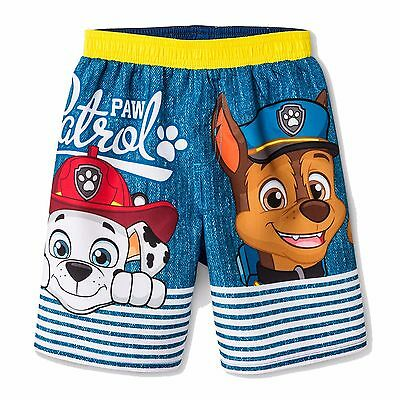 PAW PATROL CHASE UPF-50+ Boys Bathing Suit Swim Trunks NWT Toddler's Size 4T