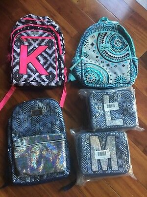 NWT JUSTICE Floral Sequin or Medallion or Aztec Denim Backpack M or L Lunch Box