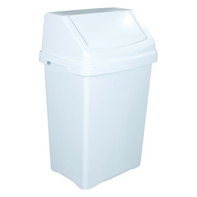 Swing Bin with Lid 50 Litre (White)