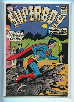 Superboy #116 Higher Grade Classic Racing With Wolves Cover