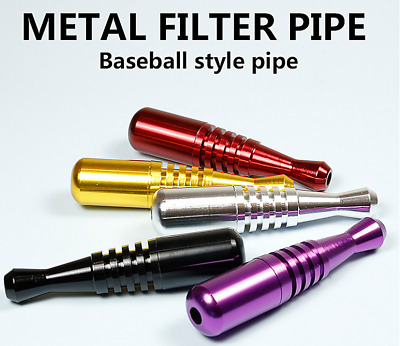1PC Portable Metal Baseball Style Smoking Pipe Tobacco Herb Filter Pipes Hot