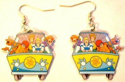 Scooby Doo Earrings Gy Fred Velma Daphine Van Charms
