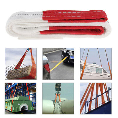 4M 3 Ton Heavy Duty Lifting Sling Towing Pulling Rope Strap, Reinforced