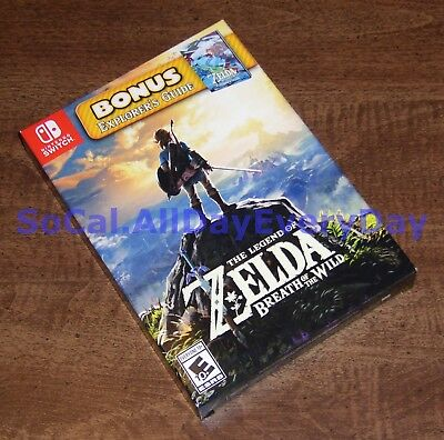 Legend of Zelda Breath of the Wild Starter Edition Pack +Explorer's Guide SWITCH