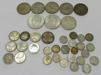 Collector Lot of Foreign Silver Coins 255 Grams