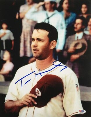 Tom Hanks Signed 11x14 A League Of Their Own Photo PSA AD83930