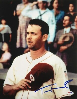 Tom Hanks Signed 11x14 A League Of Their Own Photo PSA AD83931