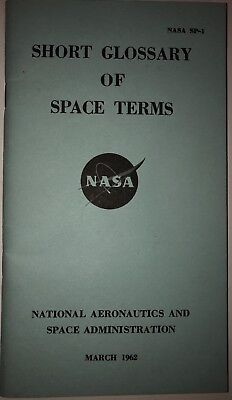 NASA Short Glossary of Space Terms (SP-1) Project Mercury Book