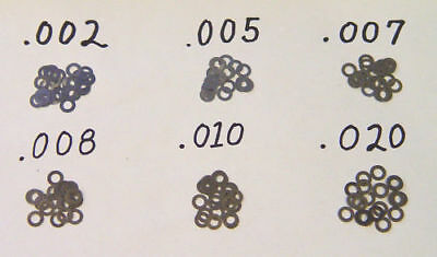 Tattoo Machine Coil Core Shims 100 Pack Steel Washers #8 UPICK Size USA MADE