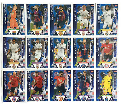 2018 2019 Topps Match Attax Champions League set of 15 cards TITLE WINNERS