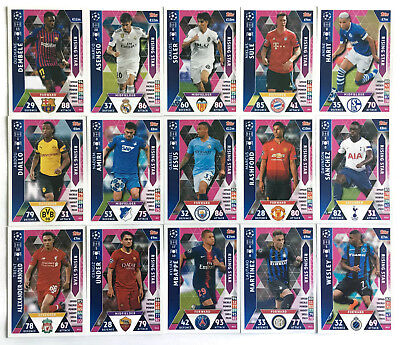 2018 2019 Topps Match Attax Champions League set of 15 cards RISING STAR