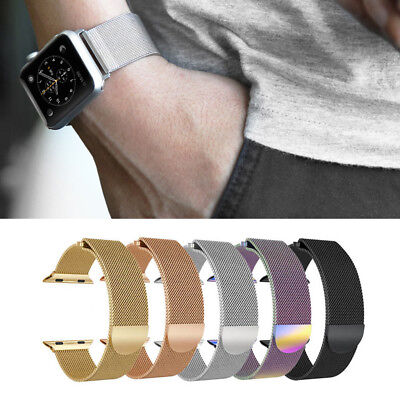 For Apple Watch Series 4 3 2 1 Milanese Magnetic Metal Watch Wrist Bands Strap