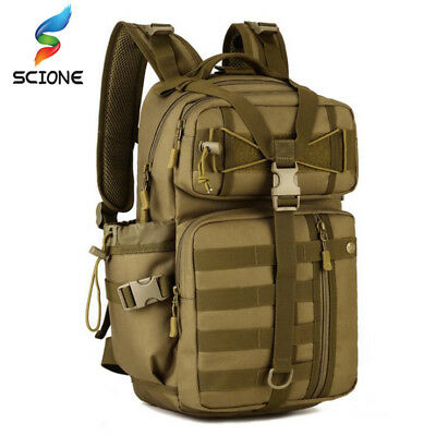 Men Outdoor Tactical Backpack Waterproof Army Shoulder Military Molle Sports Bag