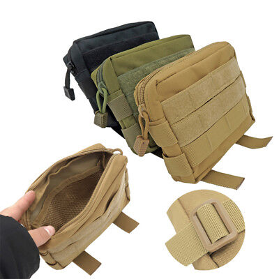 Tactical Molle Waist Bag EDC Utility Belt Pouch Hiking Fanny Pack Phone Pocket