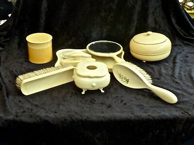 Collectable Art Deco Vanity Celluloid Vanity Set 11 Pieces England C 1920'S