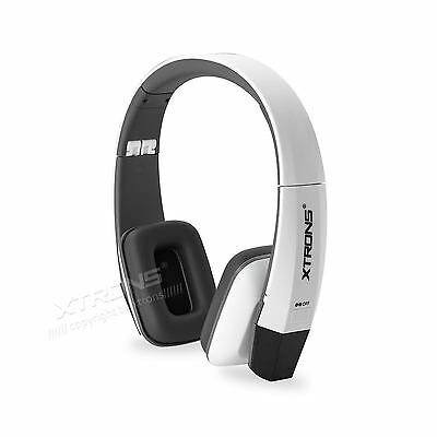 Cordless Wireless IR Infrared TV PC Stereo Headphone Headset Dual Channels White