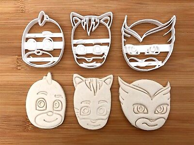 PJ 3 Faces 044 UK Biscuit Cookie Cutters Fondant Cake Decorating