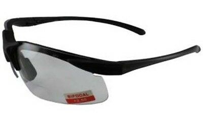Shatterproof Lens Bi Focal Rider Motorcycle Biker Clear glasses + free Pouch