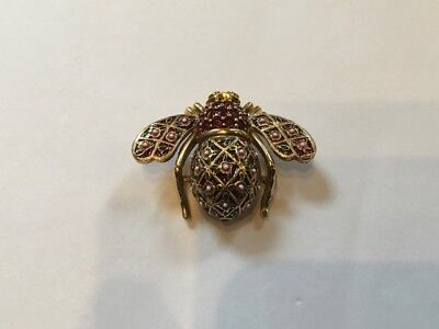 Joan Rivers Ltd. Ed. Rose Trellis Bee Pin Last in Series of Four ~ NIB