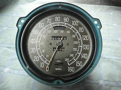Corvette Original 160 MPH 260 KMH Speedometer White Face 1977